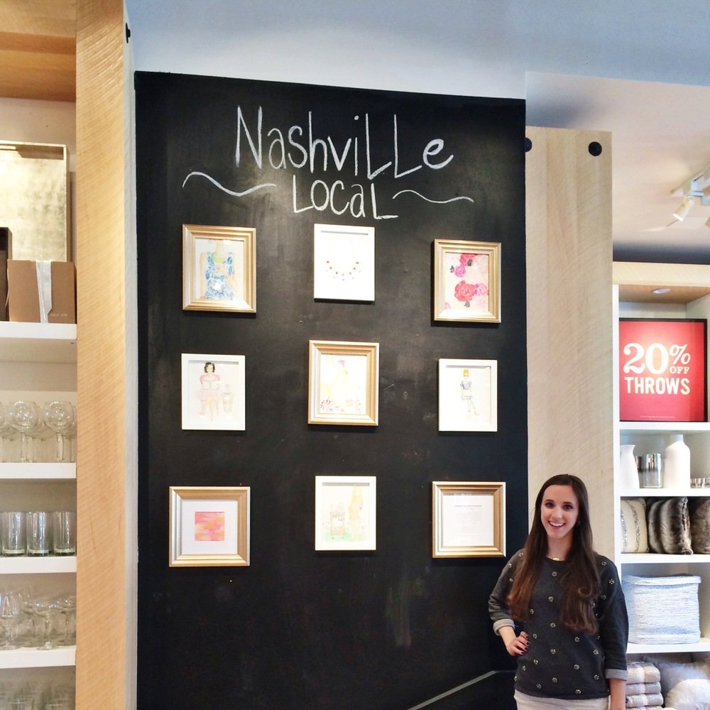 Simply Jessica Marie at West Elm | Nashville Local Artist