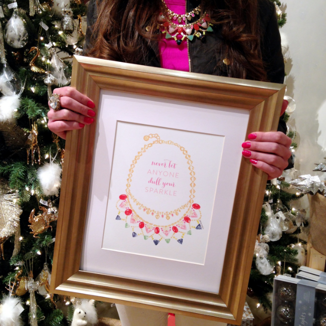 Never Let Anyone Dull Your Sparkle Stella & Dot Inspired Art Print by Simply Jessica Marie