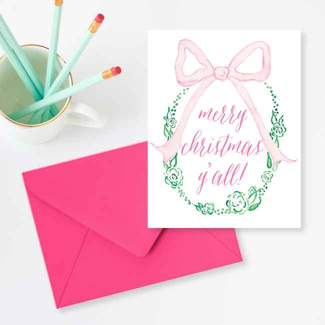 Merry Christmas Y'all Card by Simply Jessica Marie
