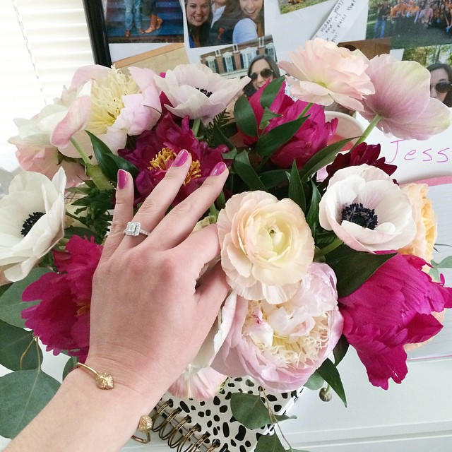 Engagement Ring and Florals by Violet Floral Design | Simply Jessica Marie