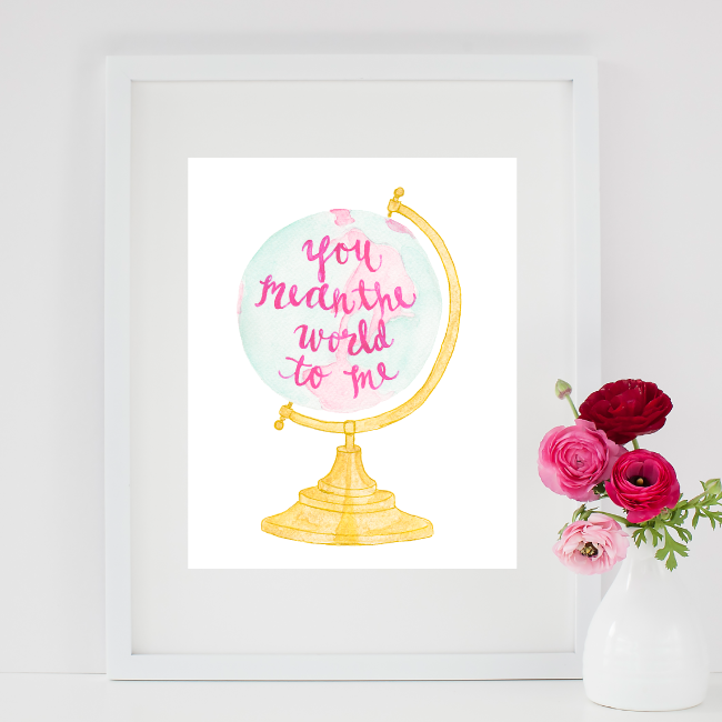 You Mean the World to Me Adoption Art Print | Simply Jessica Marie