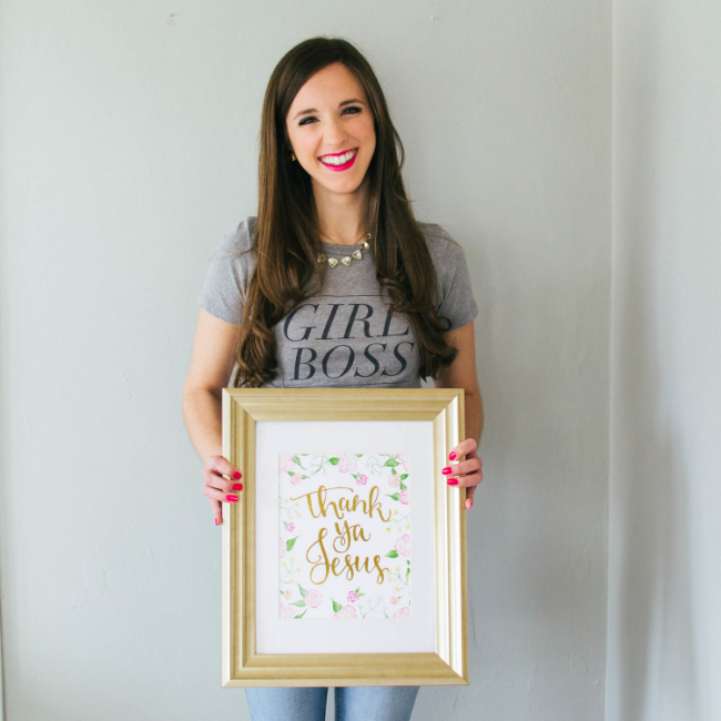 Thank Ya Jesus Art Print by Simply Jessica Marie | Zipporah Photography | Nashville Wedding Photographer