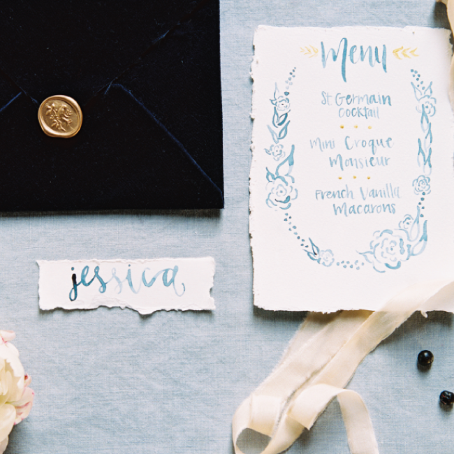 Custom Wedding Invitations by Simply Jessica Marie