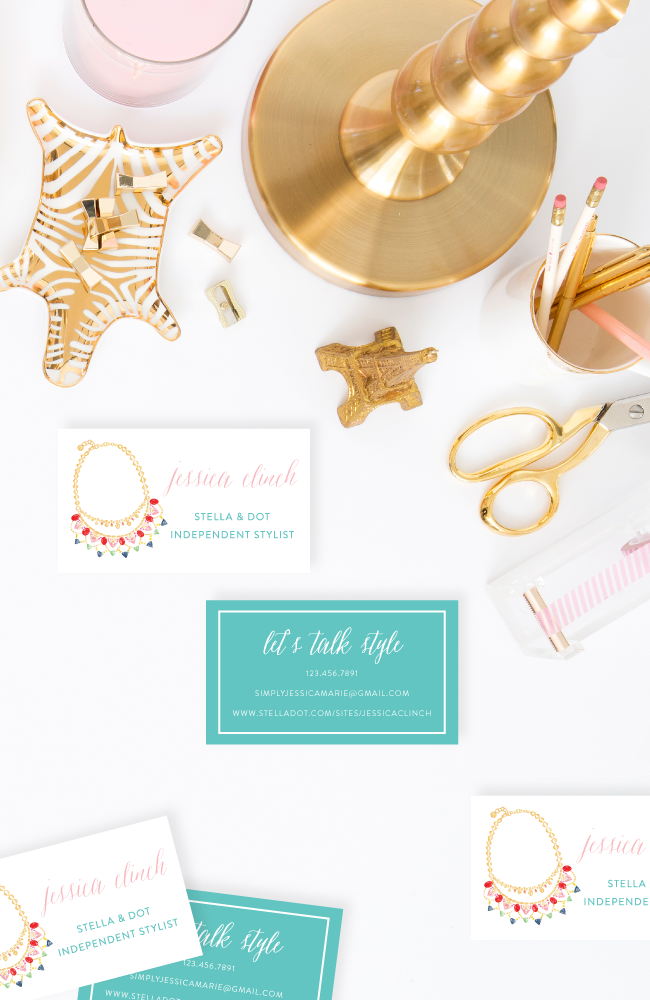 Stella & Dot Personalized Business Cards by Simply Jessica Marie