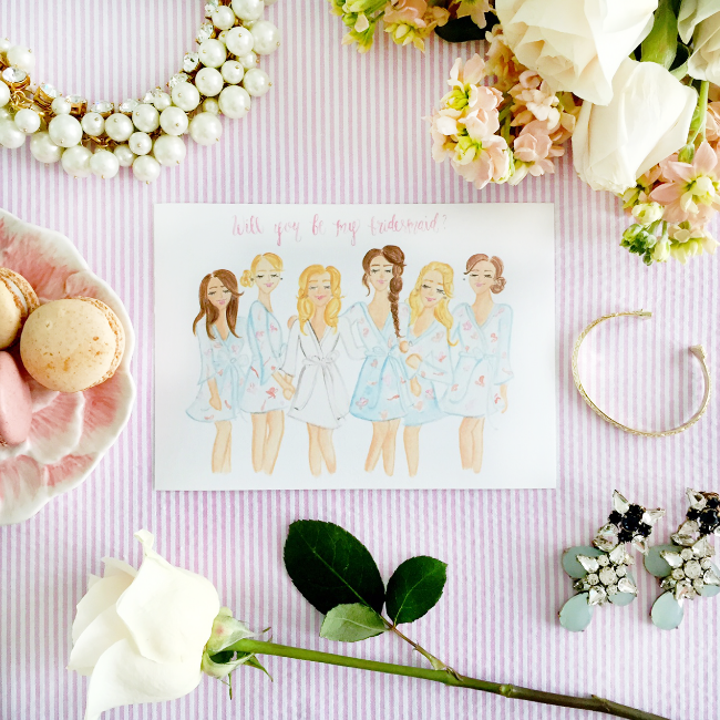 Custom Will You Be My Bridesmaid Art Prints by Simply Jessica Marie