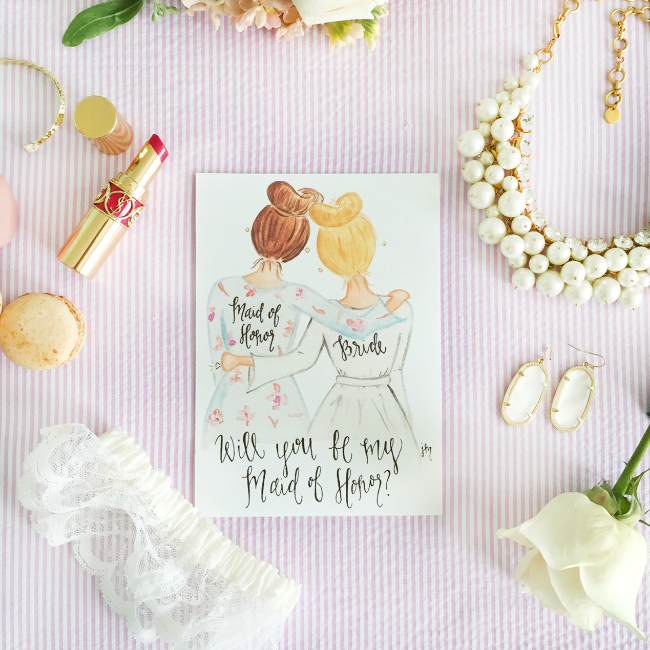 Custom Will You Be My Maid of Honor Art Prints by Simply Jessica Marie