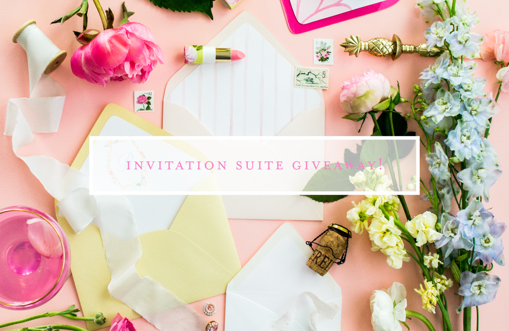 Wedding Invitation Suite Giveaway by Simply Jessica Marie