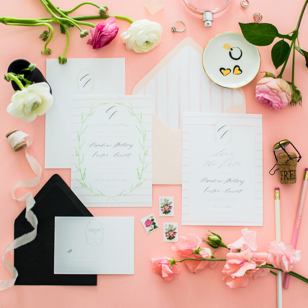 Parisian Wedding Invitation Suite by Simply Jessica Marie