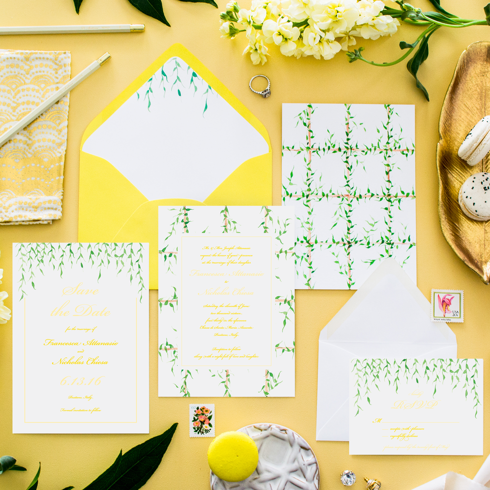 Positano Wedding Invitation Suite by Simply Jessica Marie