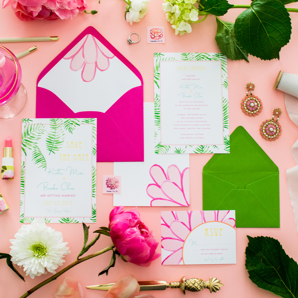 Palm Springs Wedding Invitation Suite by Simply Jessica Marie