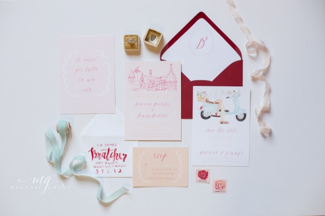 Roma Red Wedding Inspiration | Simply Jessica Marie Wedding Invitations | Melanie Grady Photography | The Big Fake Wedding Nashville featured on Ruffled Blog