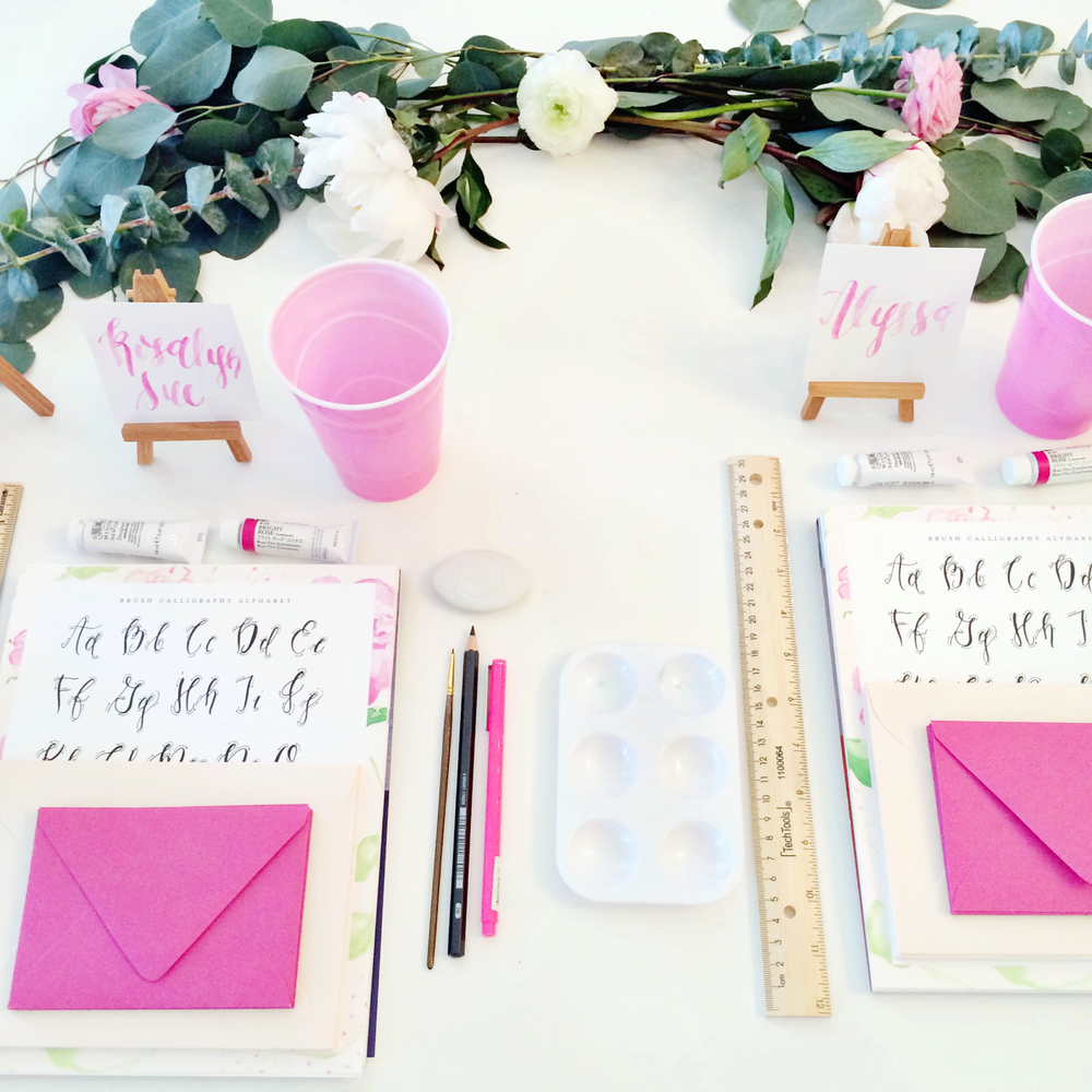 Simply Jessica Marie Brush Calligraphy Workshop at The Bride Room Nashville