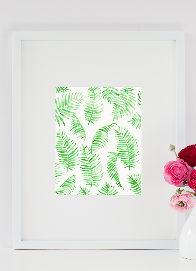 Watercolor Palm Leaf Art Print by Simply Jessica Marie