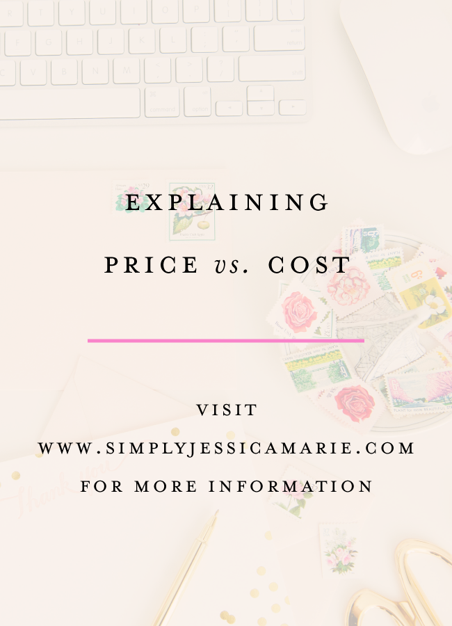 Explaining price versus cost with Simply Jessica Marie and Creative's Academy