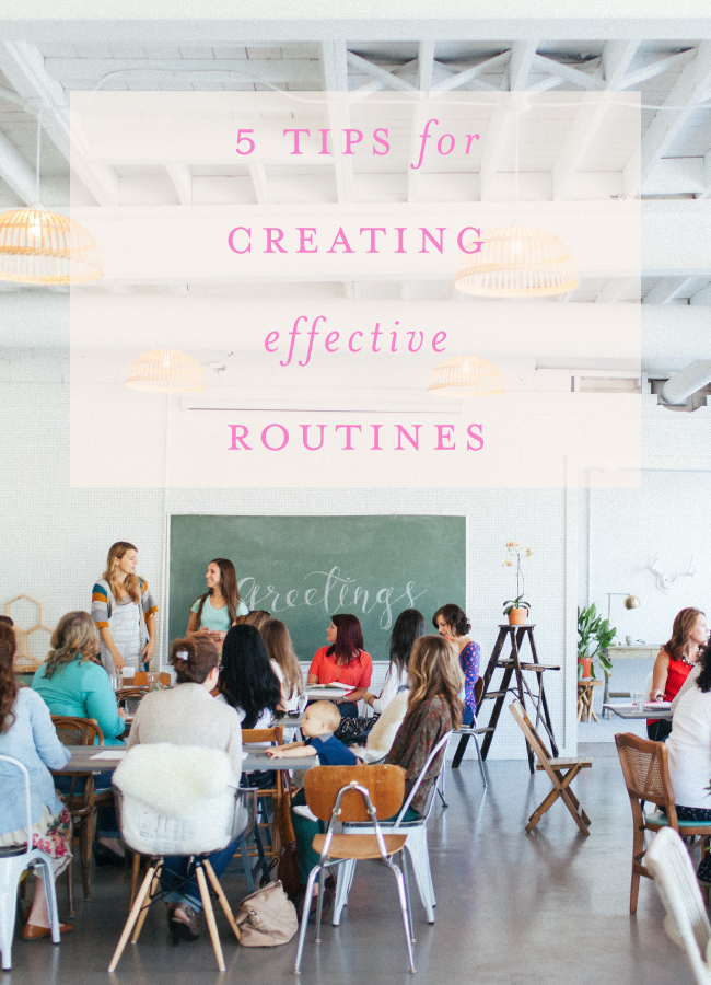 5 Tips for Creating Effective Routines | Tuesdays Together Knoxville September Gathering Recap | Texture Photo at The Hive Knoxville
