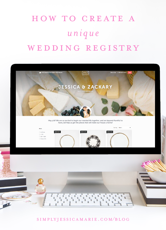 How to Create a Unique Wedding Registry by Simply Jessica Marie for Southern Weddings
