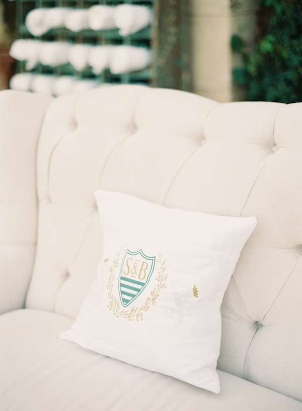 Custom Wedding Monogram Pillow