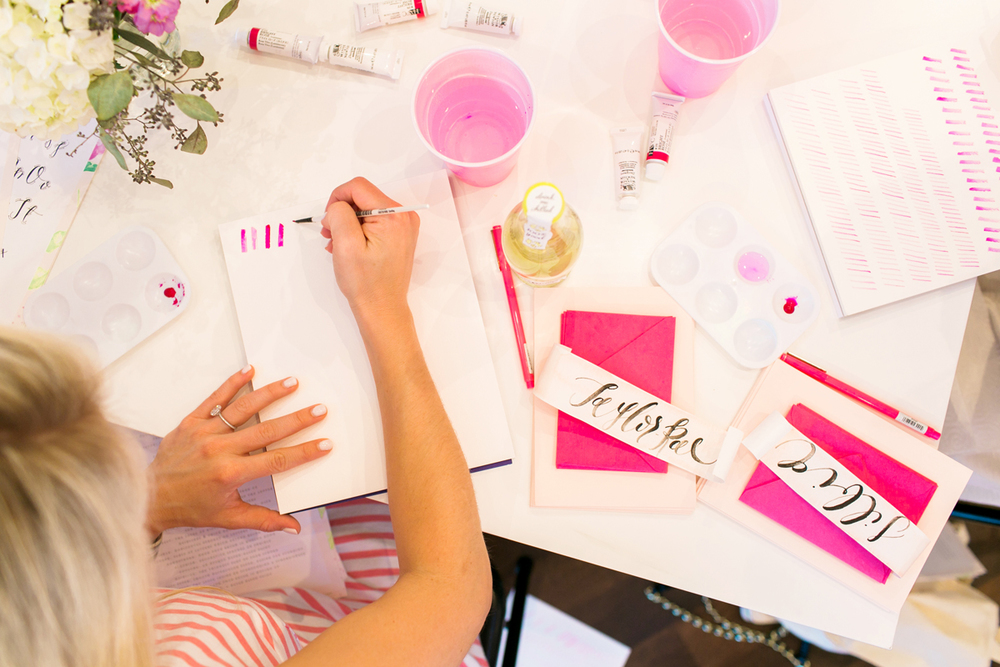 Knoxville Tennessee Brush Calligraphy Workshops by Simply Jessica Marie | Photo by Amy Nicole Photography