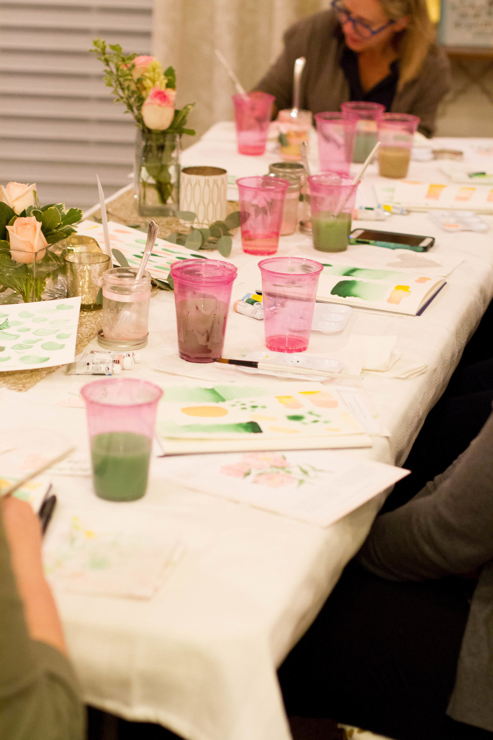 Knoxville Tennessee Watercolor Floral Workshops by Simply Jessica Marie | Photo by Encourage Huntsville