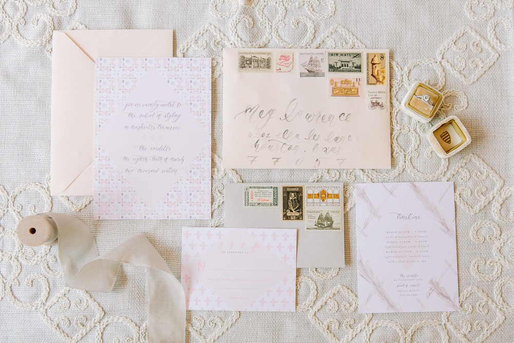 Custom Moroccan Inspired Wedding Invitation Suite by Simply Jessica Marie for The School of Styling Nashville photographed by Shalyn Nelson