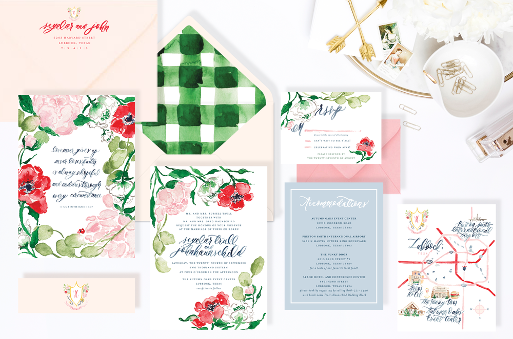 Custom Wedding Invitations Preview by Simply Jessica Marie