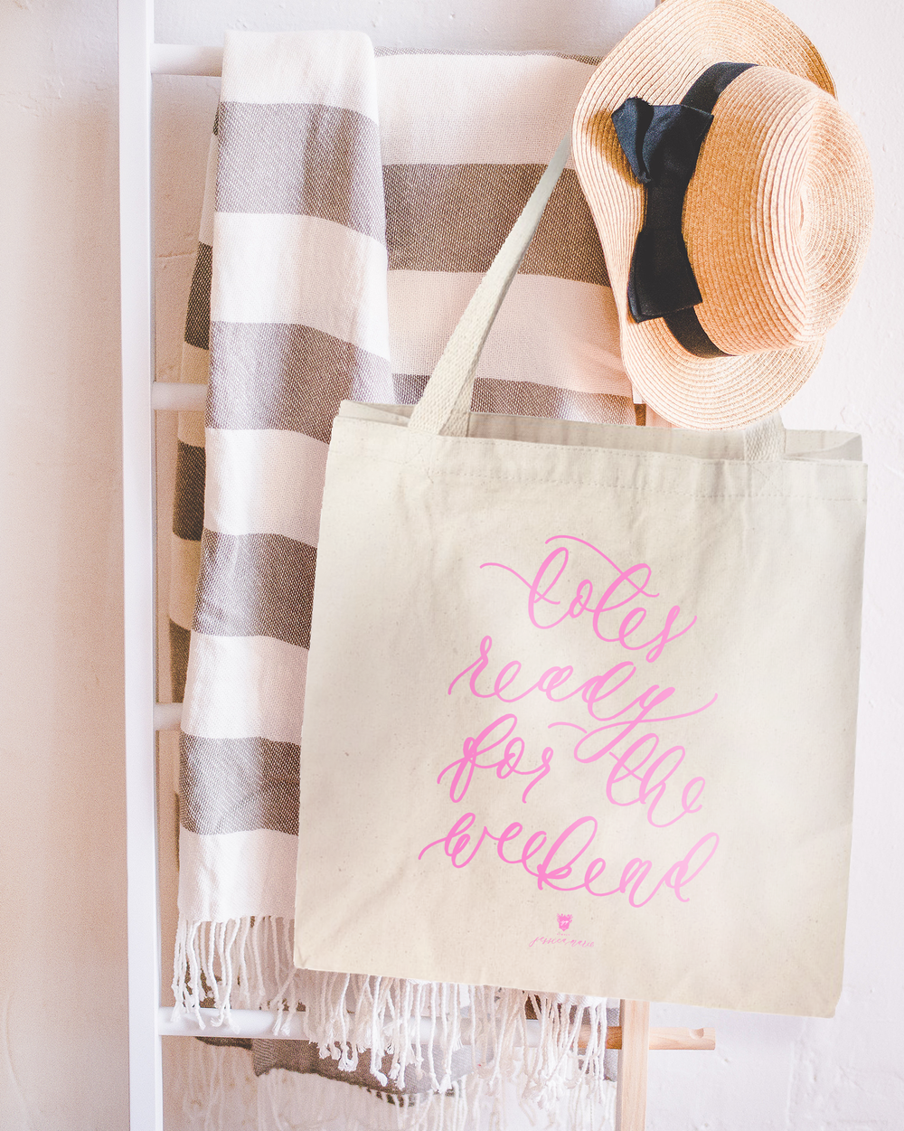 Totes-Ready-for-the-Weekend-Pink-Calligraphy-Tote-Bag-by-Simply-Jessica-Marie.png