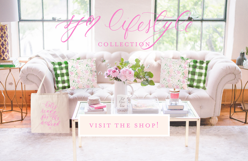 Simply Jessica Marie Lifestyle Collection of Calligraphy Mugs, Watercolor Pillows, and Calligraphy Tote Bags