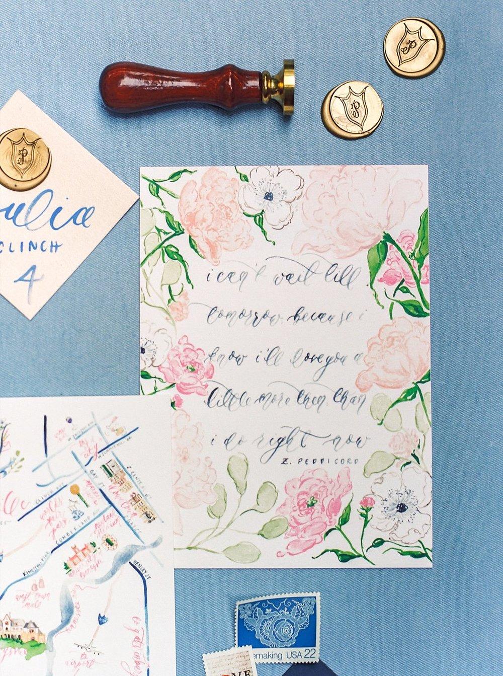 Custom foil wedding invitations