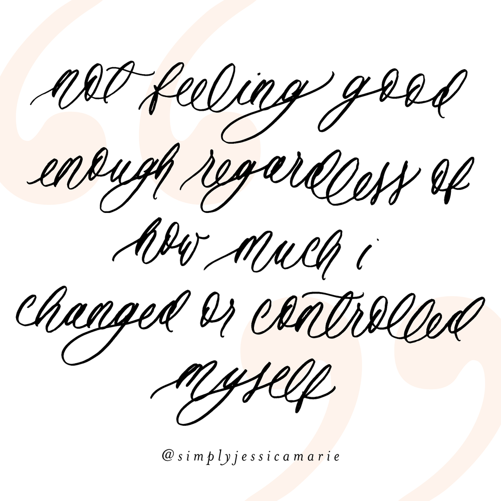 Lessons I Learned from my Eating Disorder | Encouraging Calligraphy Quote by Simply Jessica Marie