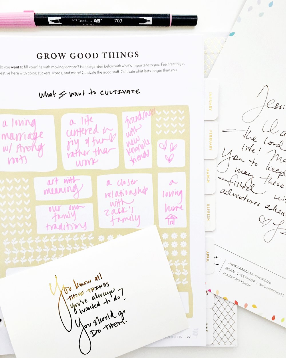How To Cultivate a Meaningful Life and Plan Actionable Goals with 2017 Powersheets