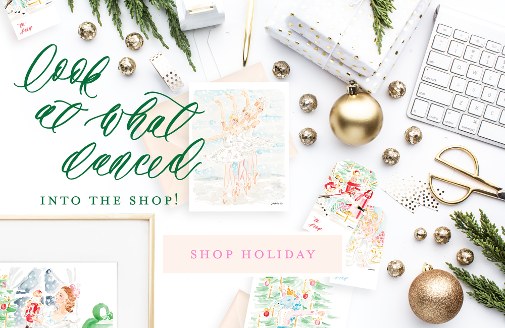 Simply Jessica Marie Holiday Collection | The Nutcracker Holiday Cards, Gift Tags, and Art Prints | SC Stockshop