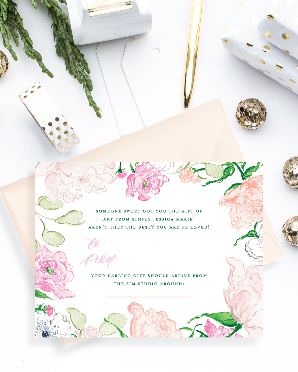 Personalized Gift Certificate by Simply Jessica Marie | SC Stockshop