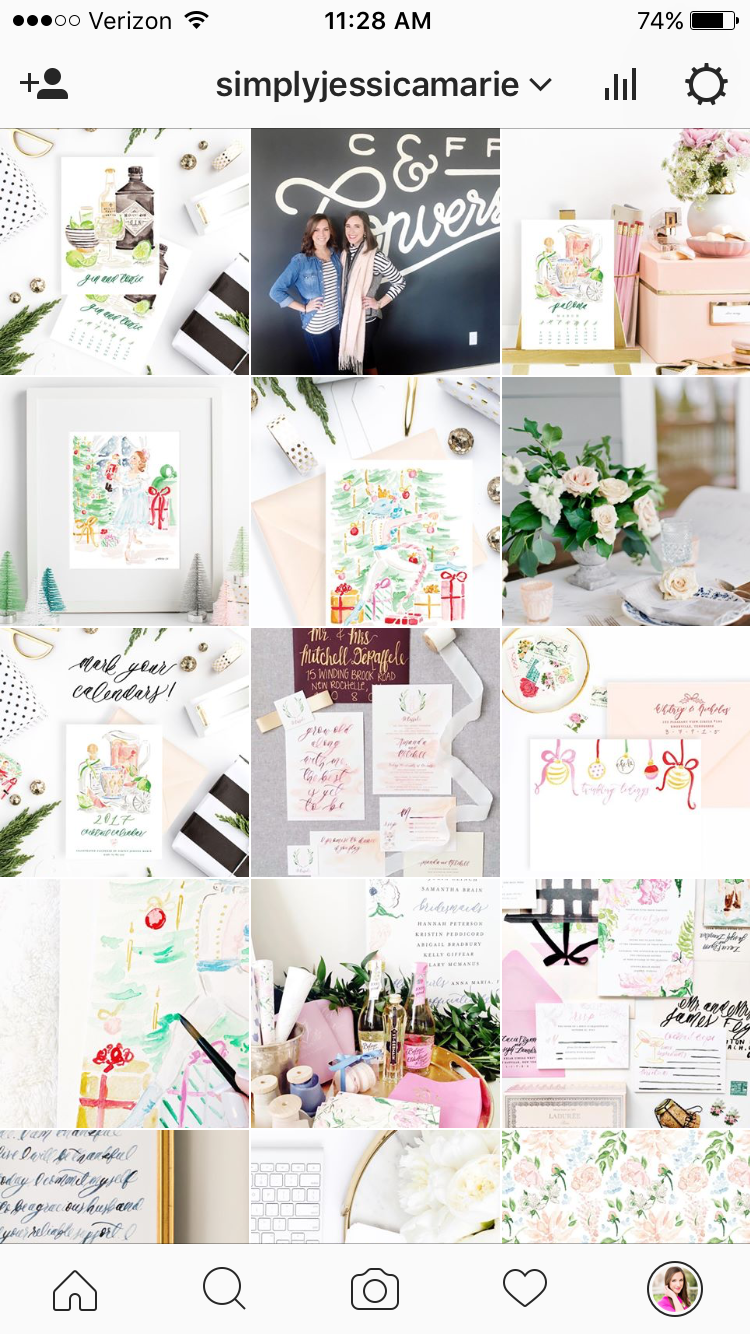 Top Five Tips for Using Styled Stock Photos for Business | SC Stockshop | Simply Jessica Marie Instagram