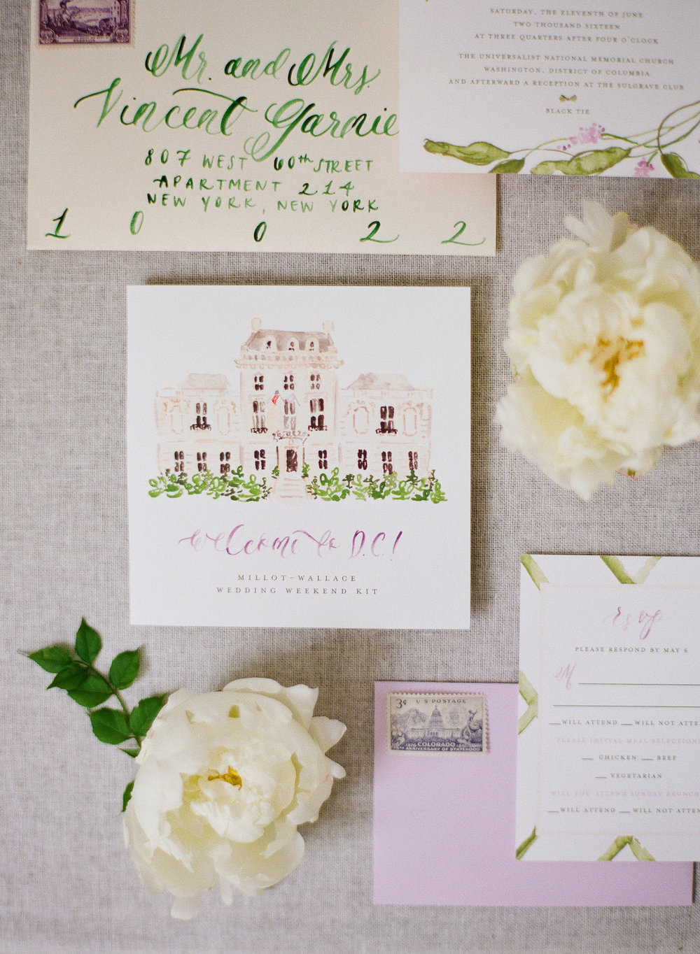 How much postage do you need for wedding invitations? | Wedding stationery advice from Simply Jessica Marie | Audra Wrisley Photography