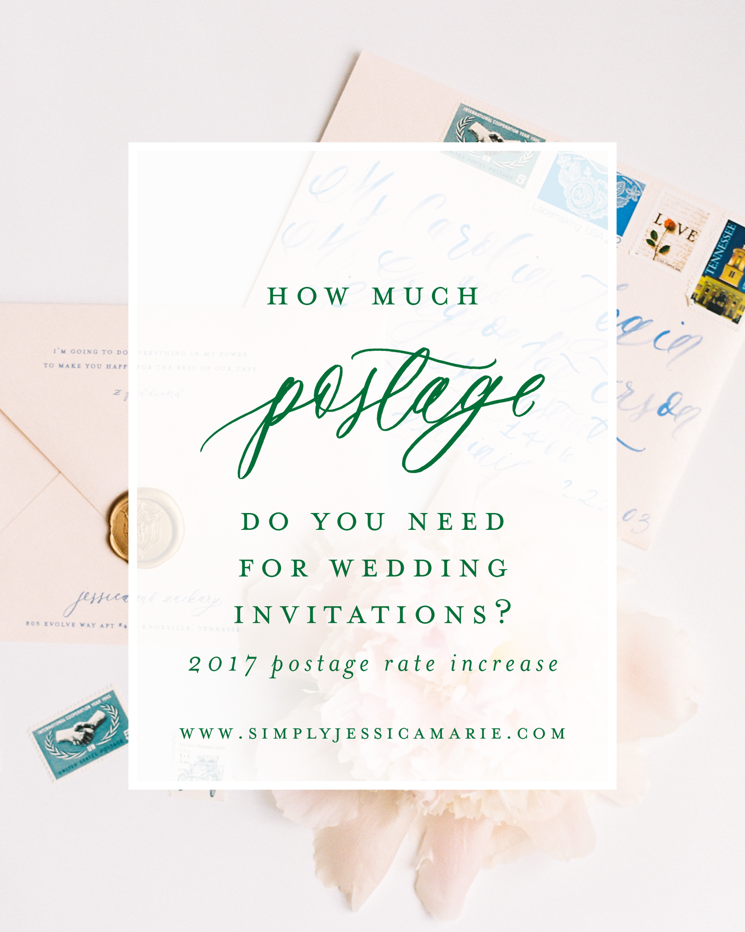 How Much Postage Do You Need For Wedding Invitations 2017 Postage Rate Increase Simply Jessica Marie