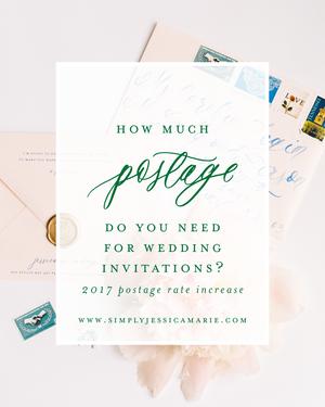 Comparing Wedding Postage Options | Standard USPS Postage, Custom