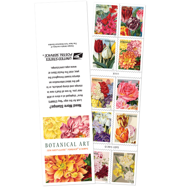Botanical Art Postage Stamps