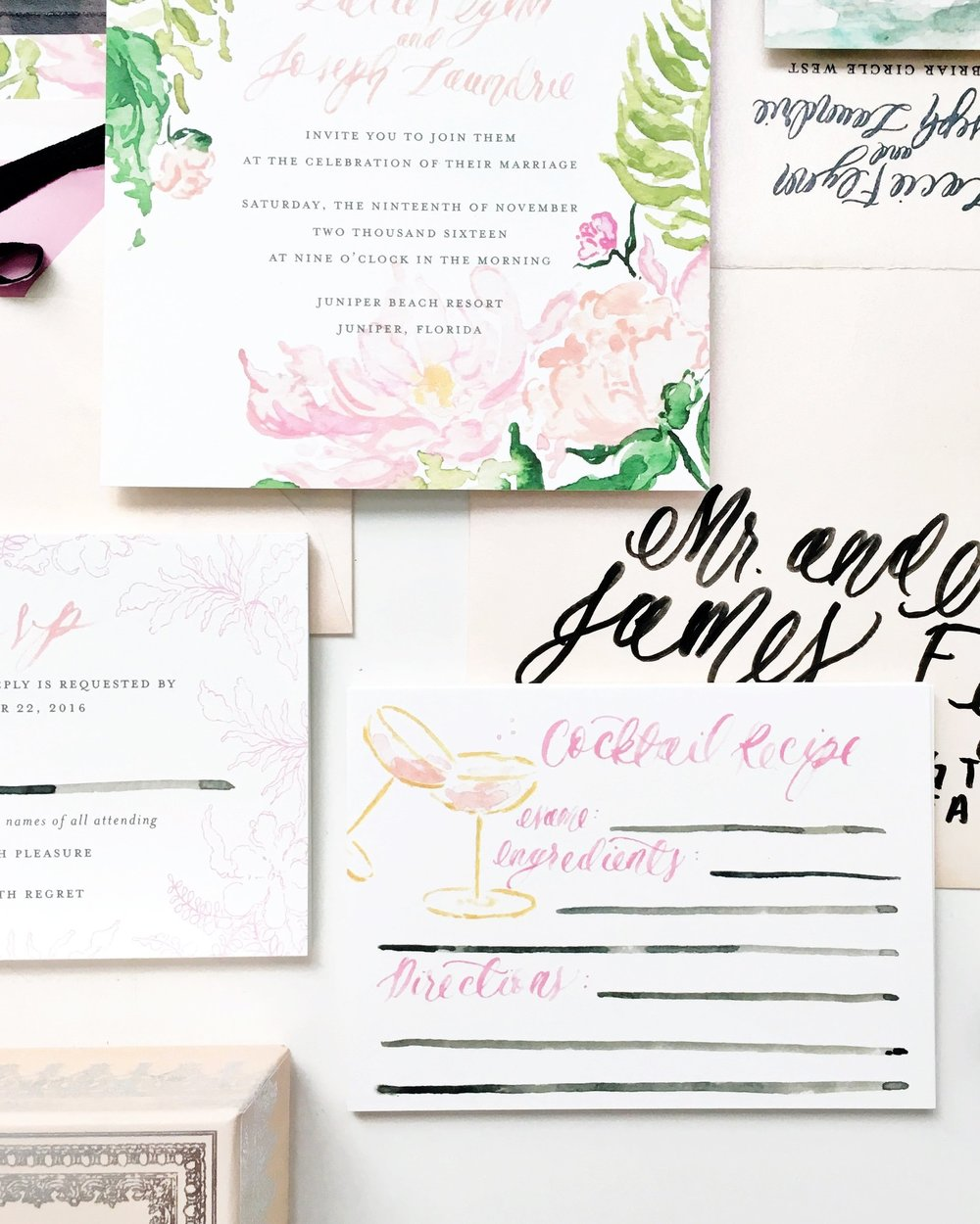 The Recipe for a Wedding Invitation Suite Simply Jessica Marie