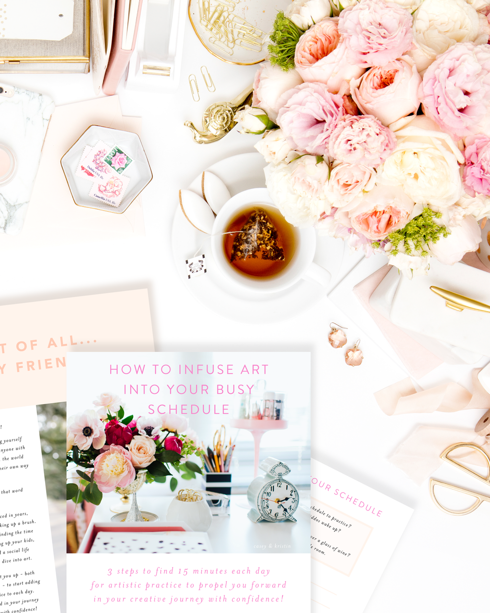 How to infuse art into your busy schedule guide by Simply Jessica Marie | Learn how to practice art on a regular basis! | Photo by SC Stockshop