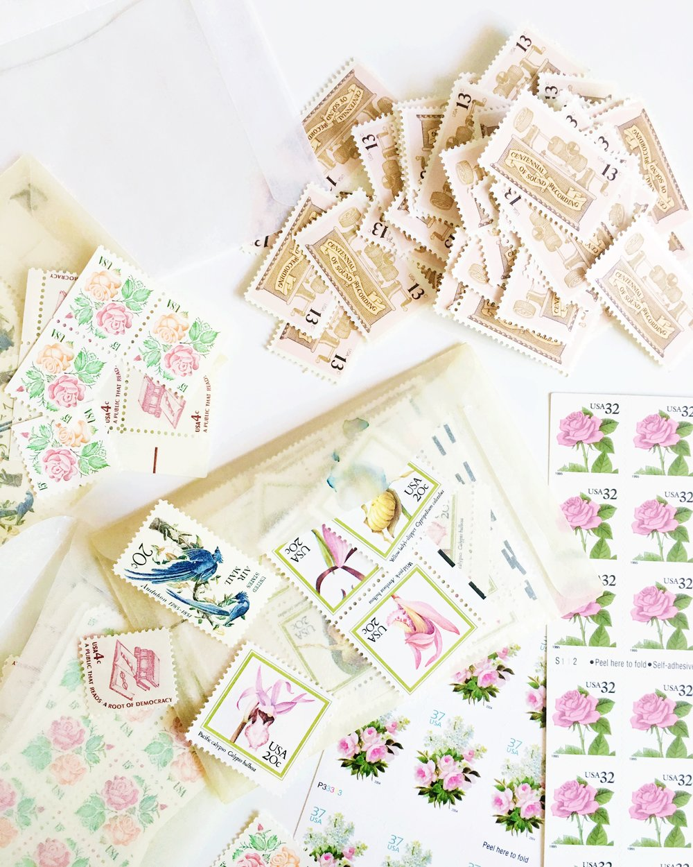 How to assemble vintage stamps | Vintage stamp assembly | My favorite vintage stamps | Wedding postage stamps | Vintage postage stamps from Verde Studio | Simply Jessica Marie