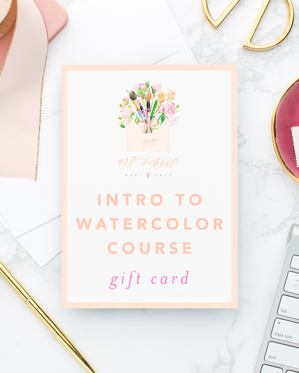SJM Art School Intro to Watercolor Online Course Gift Card
