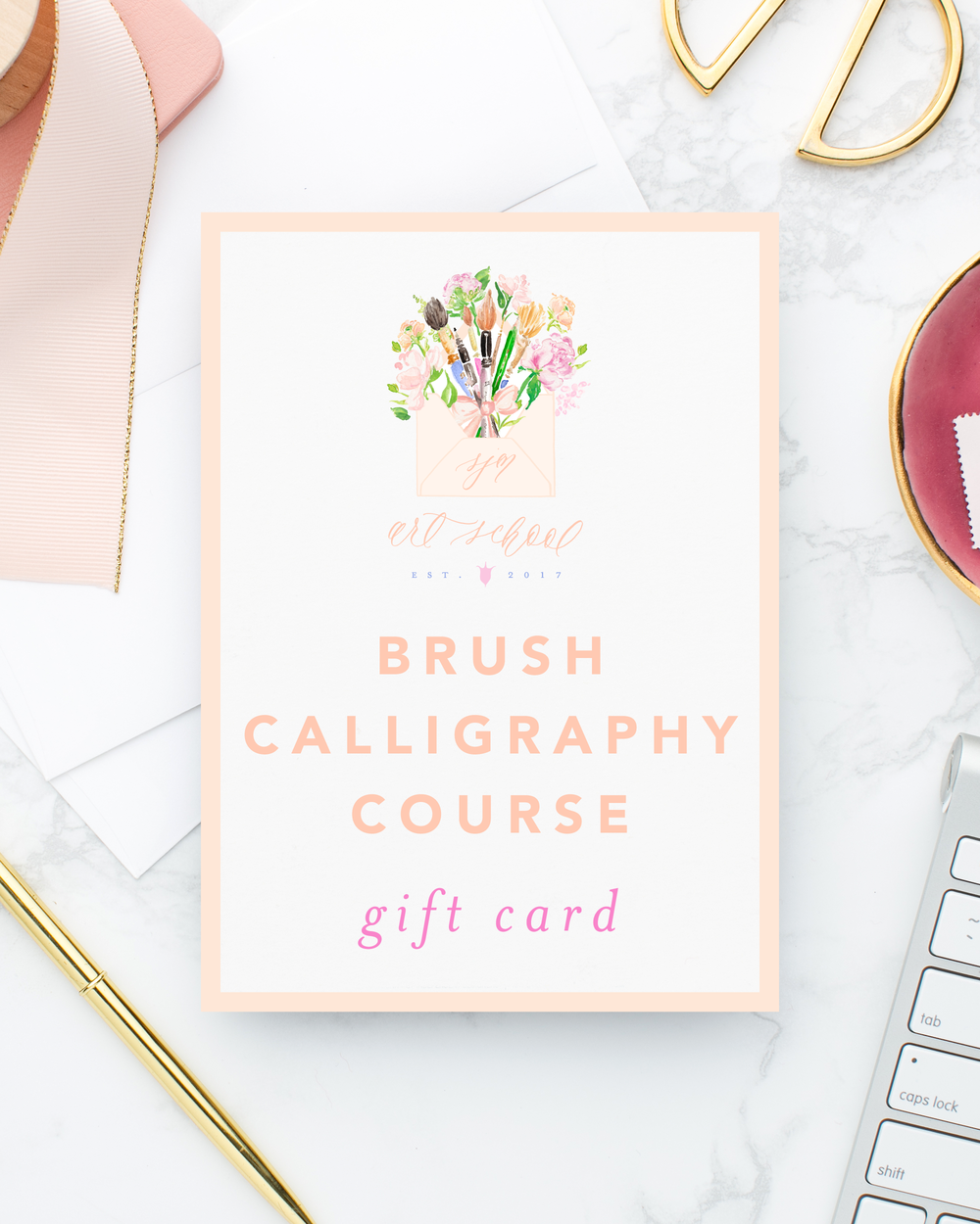 SJM Art School Brush Calligraphy Online Course Gift Card