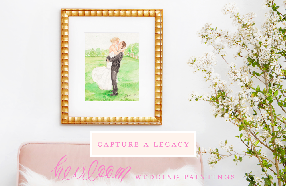 Heirloom Custom Watercolor Wedding Paintings by Simply Jessica Marie