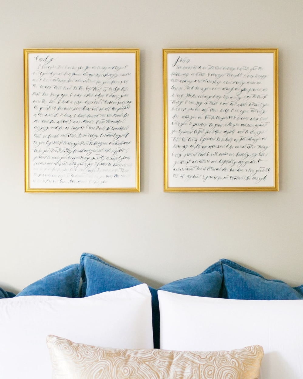 Calligraphy Wedding Vows by Simply Jessica Marie | First Anniversary Gift Ideas