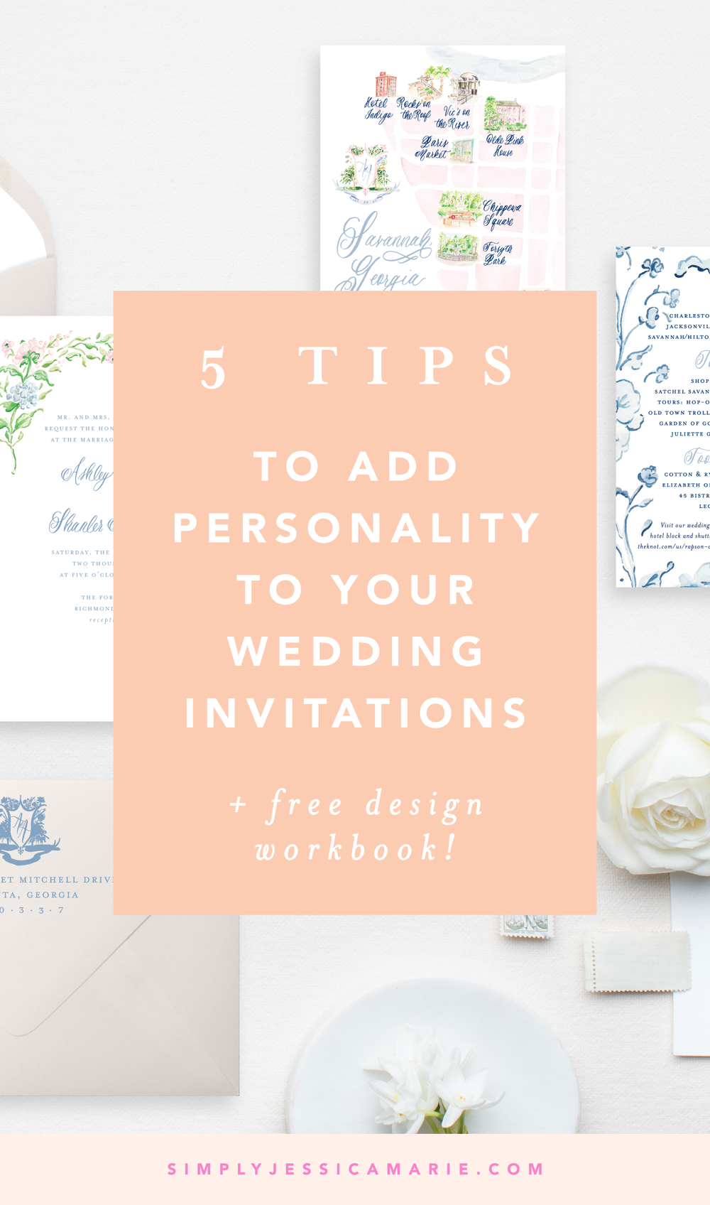 5 Tips to Add Personality to Your Wedding Invitations by Simply Jessica Marie