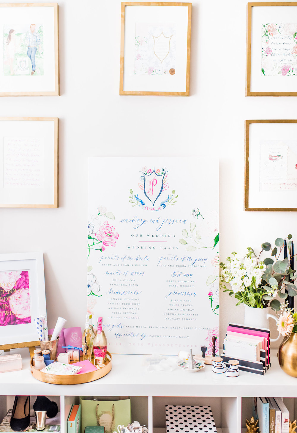 Watercolor Wedding Program Sign by Simply Jessica Marie | Callie Lindsey Photography