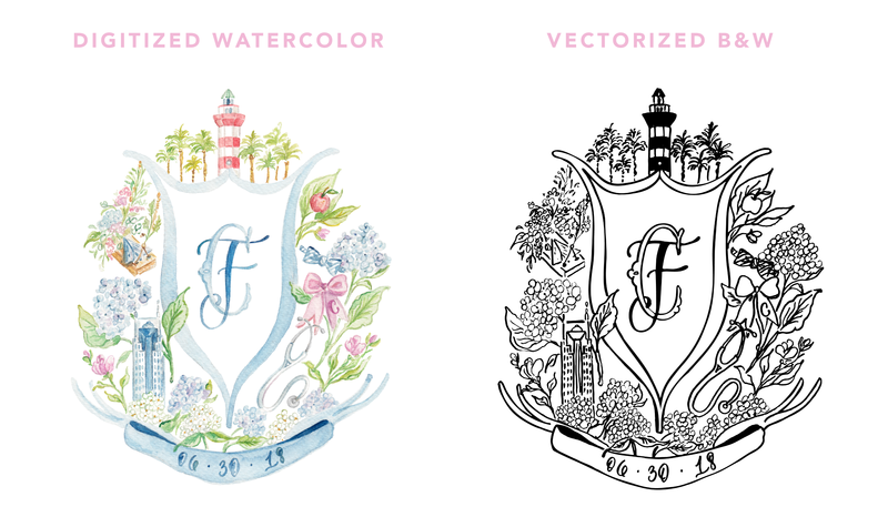 Digitizing Watercolors Versus Vectorizing Artwork by Simply Jessica Marie