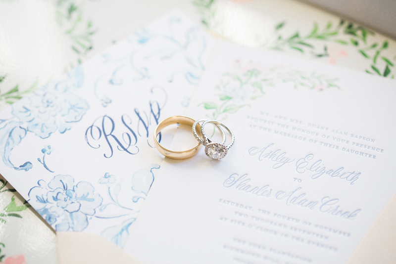 Watercolor and Letterpress Wedding Invitations by Simply Jessica Marie | Vitor Lando Photo