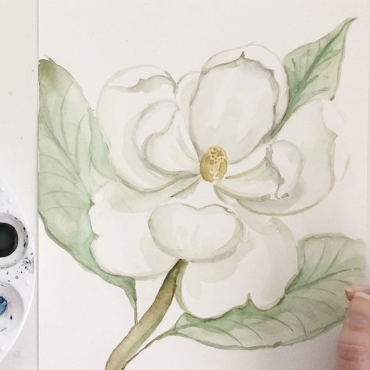 WATERCOLOR FLORALS - This course will provide you with a strong grasp on the basics of watercolor, will teach you how to take simple shapes to create petals and leaves, and will teach you how to paint 16 unique florals and a full bouquet painting!