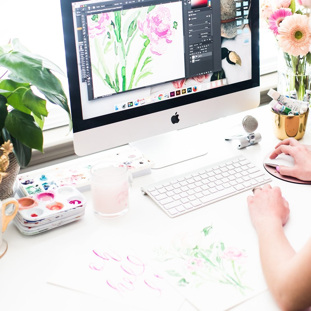 DIGITIZING WATERCOLORS - This course will provide you with my step-by-step process to create high-quality, crisp watercolor designs that accurately match your original paintings & brush calligraphy. Designs you're confident to share andsell!